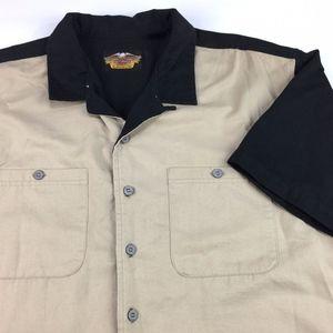 Harley Davidson Men's Short Sleeve Button Up Shirt